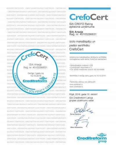 Izcilo maksātspēju sertifikāts